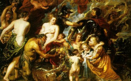 Allegory on the blessings of