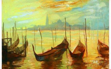 Venice oil painting Italian