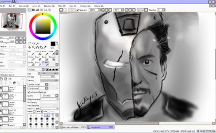 Tony Stark Digital Art SAI