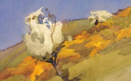 Manx Hillside Painting By
