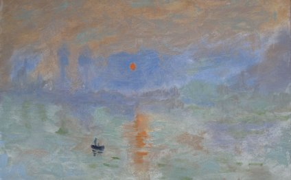 Sunset at Le Havre after Monet