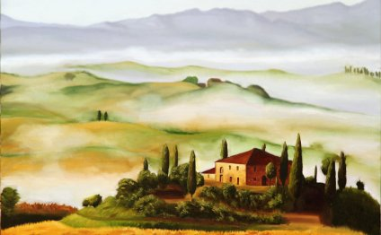 Tuscany Oil Painting by
