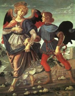 Early Italian renaissance piece of art from the Andrea del Verrocchio via Wikimedia Commons - National Gallery, London