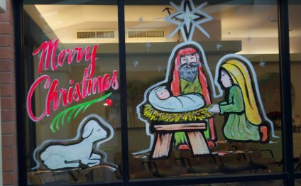 Holiday window painting patterns