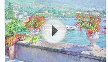 An oil painting demonstration on Lake Como, Italy by Jerry