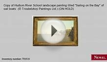 Antique Copy of Hudson River School landscape painting