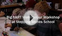 Big hART Watercolour Workshops at Stepping Stones School