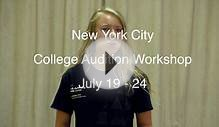 College Audition Workshop in New York City