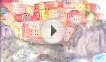 Italian Seascape Watercolor Speedpainting