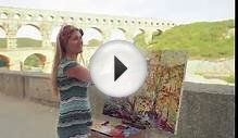 Pont du Gard, Provence, France - Oil Painting on Canvas