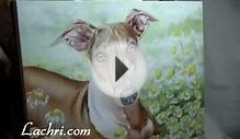 "Time Lapse ""Italian Greyhound"" speed painting in Oil over"