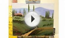 Tuscany Landscape Painting - Step By Step Demonstration